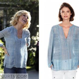 Joie Parmena Silk Blue Top Blouse (As Seen On) M